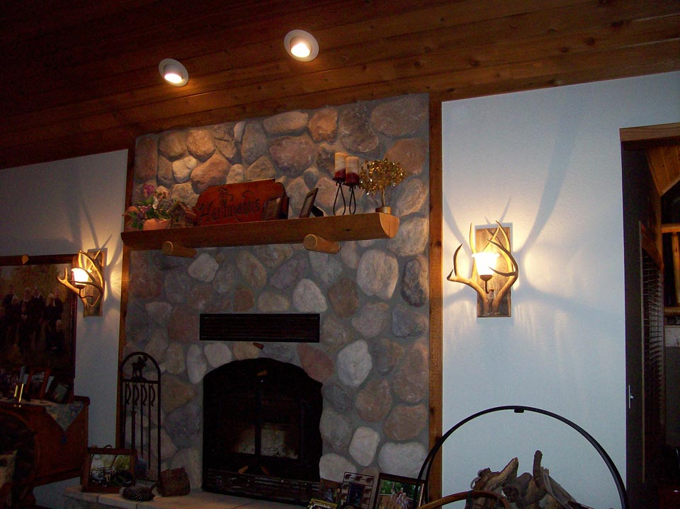 fireplace lighting. chandelier and fireplace lighting